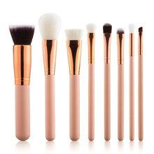 Top Quality 8PCS Makeup Brushes Professional Makeup Brush Set Cosmetics Foundation Blush Makeup Brushes!