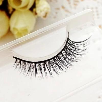 2015 1 pair Mink Hair False Eyelash Extensions Makeup Cosmetics Natural Long Crisscross Winged Fake Eye Lash free shipping
