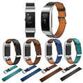Drop shipping Replacement Luxury Genuine Leather Band Strap Bracelet For Fitbit Charge 2 Oct 7