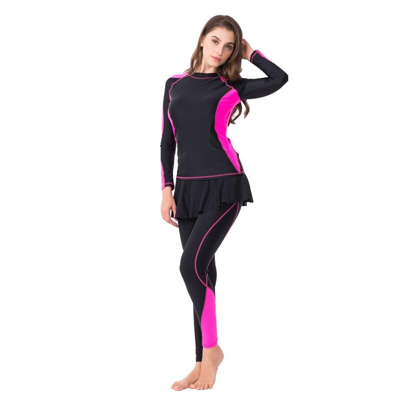 Upf50 + Macacão Corpo Inteiro Tamanho Grande Wetsuit Mulher Manga Longa Surf Maiô Uma Peça Rash Guard Natação Pesos Mergulho Terno 6xl