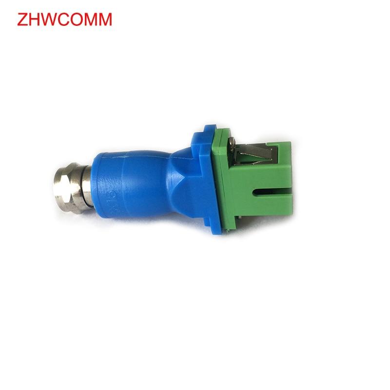 ZHWCOMM 5PCS SC APC-F CATV Cable Receiver FTTH Family SC Fiber Optic Adapter Connecter Fiber Coupler