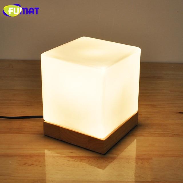 FUMAT Kleine Tafellamp met Solid Base Glazen Tafel Lampen Dimmer LED ...