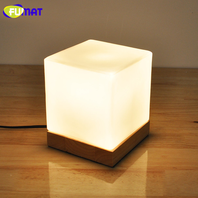 US $42.01 43% OFF|FUMAT Small Table Lamp with Solid Base Glass Table Lamps  Dimmer LED Night Light for Study Bedroom Beside Light -in LED Table Lamps  ...