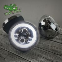 6.5 inch retro prince motorcycle modified general universal LED super bright day light Headlamp headlight Harley