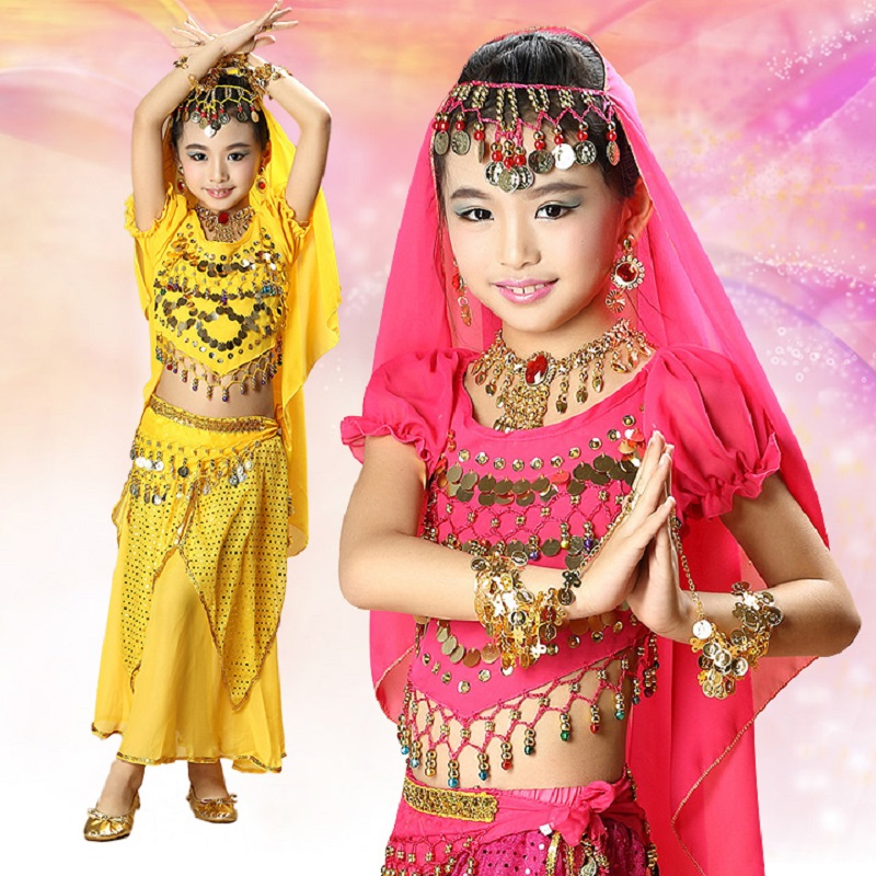 2017 clothing belly dance wear skirt costumes bollywood clothes indian dress kids bellydance dresses for girls dances top pants