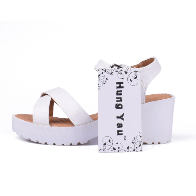 Women Platform Sandals Plus Size 45 Gladiator Woman Open Toe Shoes Summer Style Hollow Out Weave Ladies Casual Black Sandals
