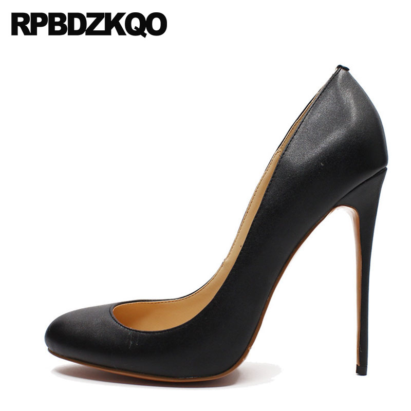 Women Big Size Fashion 12cm 5 Inch Sexy Thin Shoes Crossdresser Discount High Heels Red Stiletto Pumps Round Toe 2018 Black sorbern open toe shoes 42 crossdresser exotic celebrity heels red lace heels sexy pumps big size women shoes white black