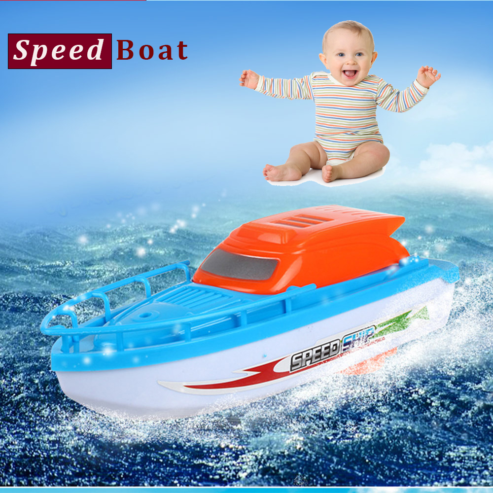 Electric Speedboat Speed Racing Boat Motor Baby Bath Bathtub Kids Toys X Mas Gift Speed Boat
