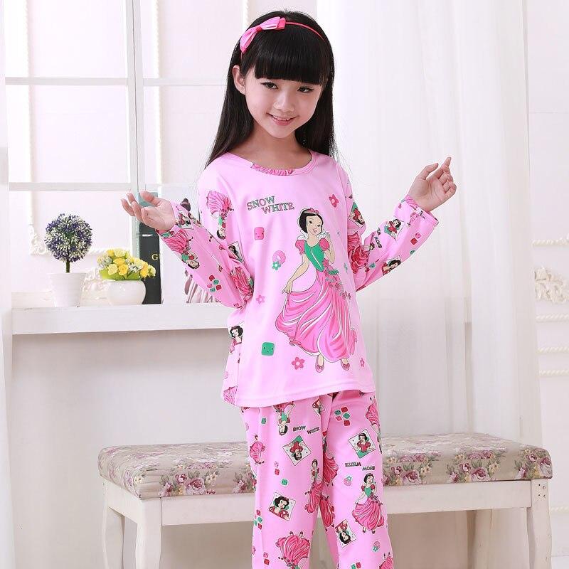 Palace Princess Children Pajama Sets Cotton Kids Pajamas Set