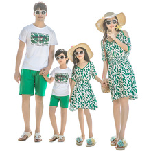 summer family look mother daughter matching dresses mommy and me clothes mom mum girl dress dad son outfits family clothing sets недорого