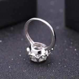 Image 4 - Gems Ballet 2.73Ct Natuurlijke Groene Amethist Engagement Ring Voor Vrouwen 925 Sterling Zilver Gemstone Vinger Ringen Fijne Sieraden