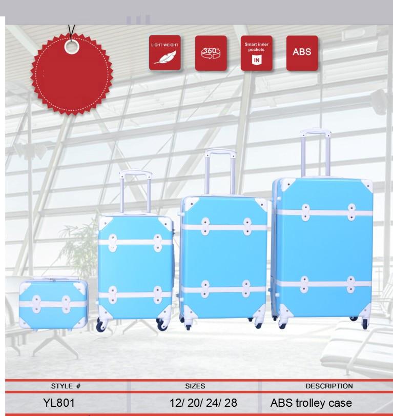 """Begeistert Reise Tale 13 """"20"""" 24 """"28"""" In Spinner Billig Reisen Koffer Set Hardside Trolley Abs Rollgepäck Eingestellt"""