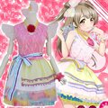 New Anime Love Live Minami Kotori Printemps Cosplay Costume Rainbow Lolita Maid Dress Halloween Costume Free Size