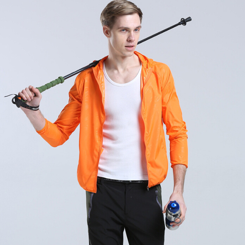 Unisex Quick-Drying Summer Outdoor Camping Jacket Protection UV plus Hiking Running Fishing Waterproof Sunscreen Clothing