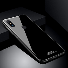 For Xiaomi Mi Mix 3 Tempered Glass Case for Hard PC Soft TPU Mirror Surface Cover+ glass film Mix3