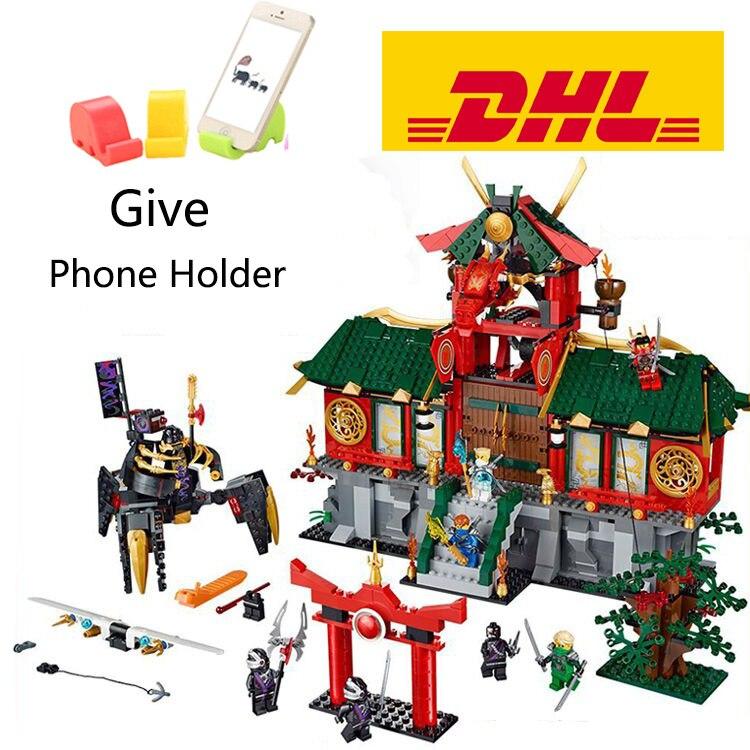 ФОТО 1223Pcs Bela 9797 Ninja Thunderwordsman 70728 Building Bricks Blocks Compatible Legoe Figures Toys