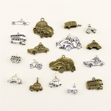 Charms For Jewelry Making Transport Bus Agricultural Car Sedan  Accessories Parts Creative Handmade Birthday Gifts