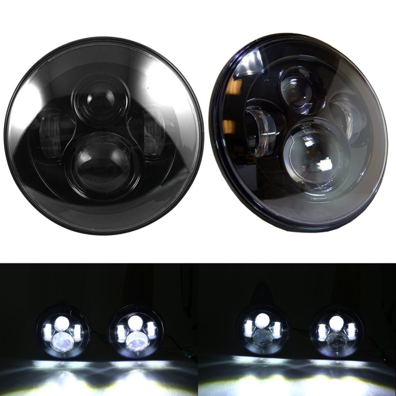 Free shipping Black 7 inch LED Headlights Replacement For Jeeps Wrangler JK 2 Door 4 Door