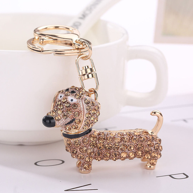 Fashion Dog Dachshund Keychain Bag Charm Pendant Keys Holder Keyring Jewelry For Women Girl Gift Keychain Jewelry New 3