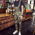 Fashion Brand Denim Jumpsuit Men Casual Pants Multi Pockets Hip-Hop Overalls for Men Camouflage Outdoors Long Trousers MB16298