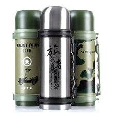 1200 ml Außen Edelstahl Wasser Thermosflasche Isolierung Tee Wasserkocher Für Bergsteigen Sport Fahrrad Reise-Flaschen