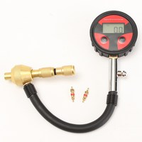 Auto Motorcycle Car Cycle Truck Tire LCD Digital Pressure Gauge With Tire Core 2x Built In