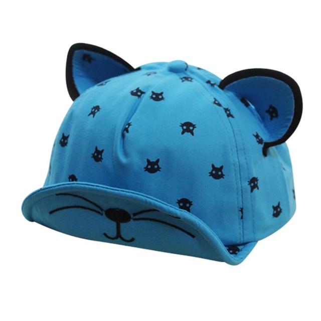 95f27306dea Summer Baby Boys Girls Hat Ears Beard Stars Cat Print Hat Newborns Cap Kids  Baseball Hats Boy Girl Sun Cotton Caps New Arrival