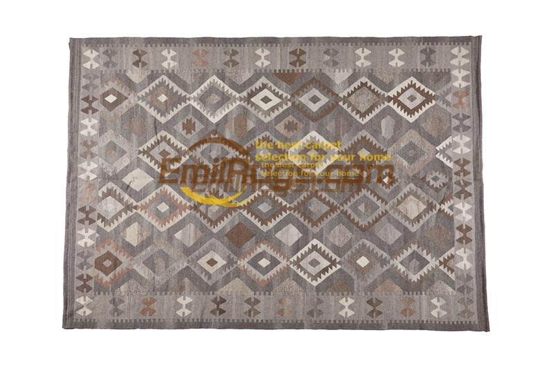 Tissé à la main Kilim tapis fait main tapis chambre tapis tapis géométrique tapis bohème laine tricot tapis