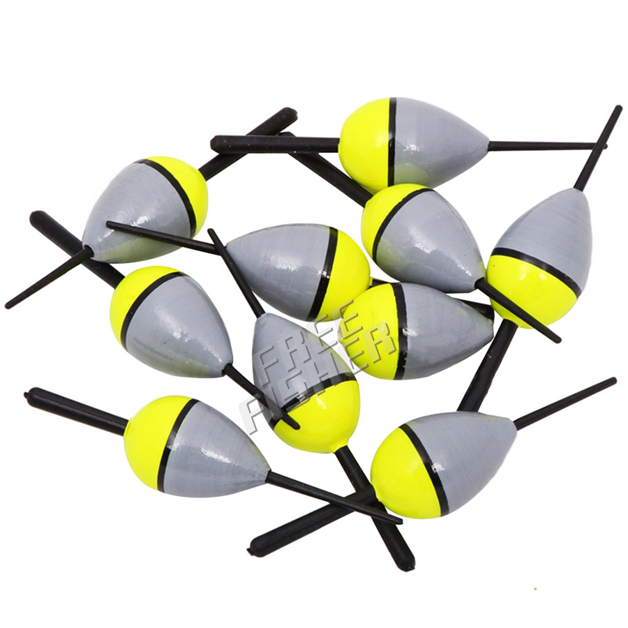 10pcs fishing float bobber cork lighted balsa wooden buoy for Fishing bobbers bulk