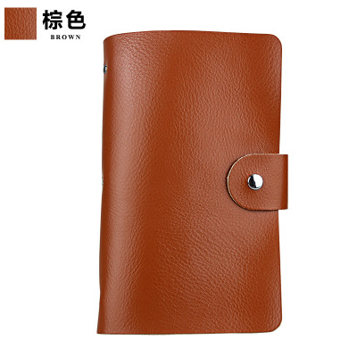 Leather Business Card Organizer Book Holder Black Compact Case Wallet Men Women
