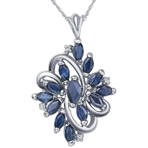 Ожерелье Qi Xuan_Dark Blue каменный цветок кулон ожерелье_ Настоящее ожерелье_ гарантия качества_ производитель прямые продажи