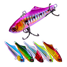 Купить с кэшбэком 1Pcs 6cm 14g Winter Fishing Lures Plastic VIB Hard Bait Lead Inside Vibration Fishing Tackle Wobbler Lure
