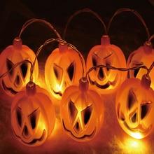 Pumpkin 10 LED String Lights Halloween Decoration horror Lanterns Lamp