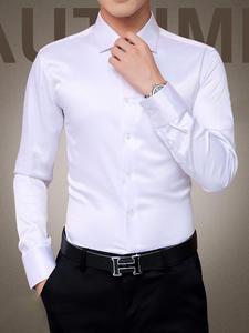 Tuxedo Shirt Party-Dress Long-Sleeve Silk Wedding Men's Plus-Size 5XL New Cotton Mercerized