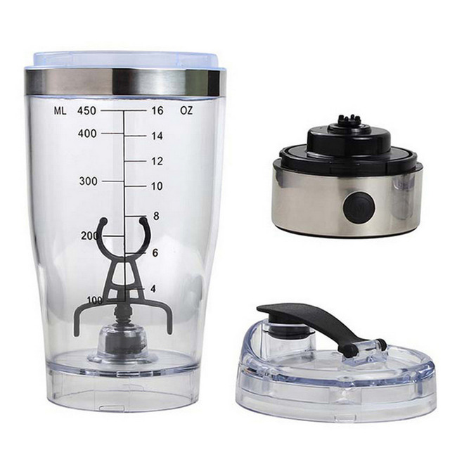 Behogar 450ml Outdoor Travel Portable Battery-Powered Electric Protein Shaker 3