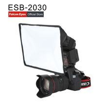 лучшая цена Falconeyes ESB2030 Portable Foldable Flash Diffuser Softbox for Canon Nikon Sony DSLR flash Speedlite Photo Studio Accessories