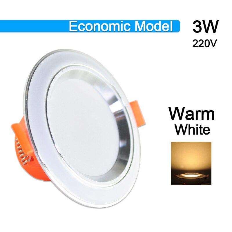 Потолочный светильник 3 Вт 5 Вт 9 Вт 12 Вт 15 Вт 18 Вт точечный светодиодный светильник AC 220 В золотистый, серебристый, белый ультратонкий алюминиевый круглый встраиваемый Светодиодный точечный светильник - Испускаемый цвет: 3W Warm White