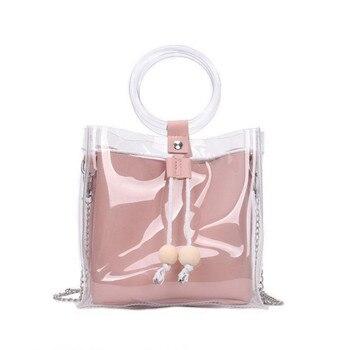 2018 Design Luxury Brand Women Transparent Bag Clear PVC Jelly Small Tote Messenger Bags Female Crossbody Shoulder Bags #XTJ алиэкспресс сумка прозрачная