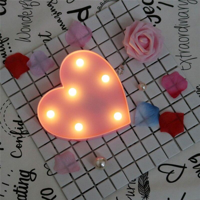Luzes da Noite do quarto crianças presentes s011 Formato : Coração