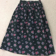 Charter Club Petites skirt womens size 6P green floral skirt 100% cotton f0965541a5ab