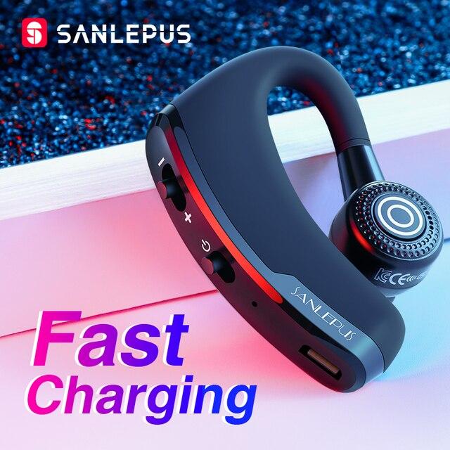 SANLEPUS Fast Charging Bluetooth Headset Business Wireless Earphone Car Phone Handsfree MIC Music for iPhone Xiaomi Samsung