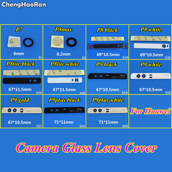 ChengHanRan New Rear Top Camera Glass Lens Cover For Huawei Ascend P7 P8max P8 P8 Lite P9 P9plus Repair Parts ( With Adhesive ) image
