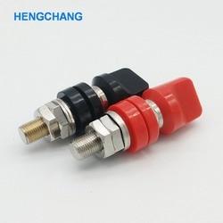 JXZ typ M10 czerwony i czarny 10mm wysoki prąd zacisk miedziany do inwertor moc z 4mm gniazdo bananowe