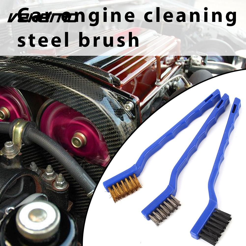 Steel Wire with Handle Oil Brush Car Brush Dirt Cleanin Brush Cleaner Scrub Universal Tool