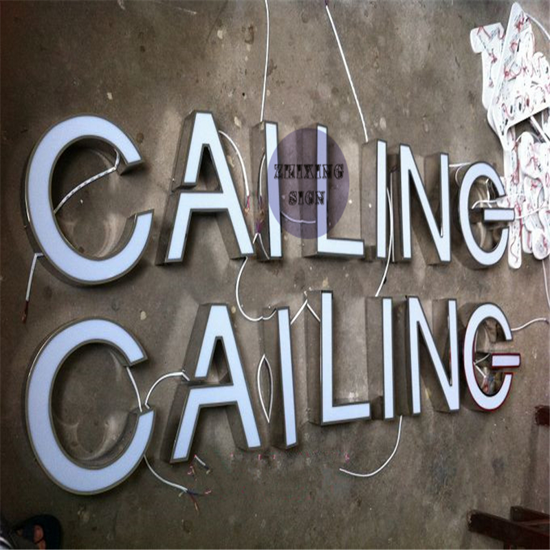 Factory Outlet Outdoor Acrylic Led Channel Lit Letter Sign