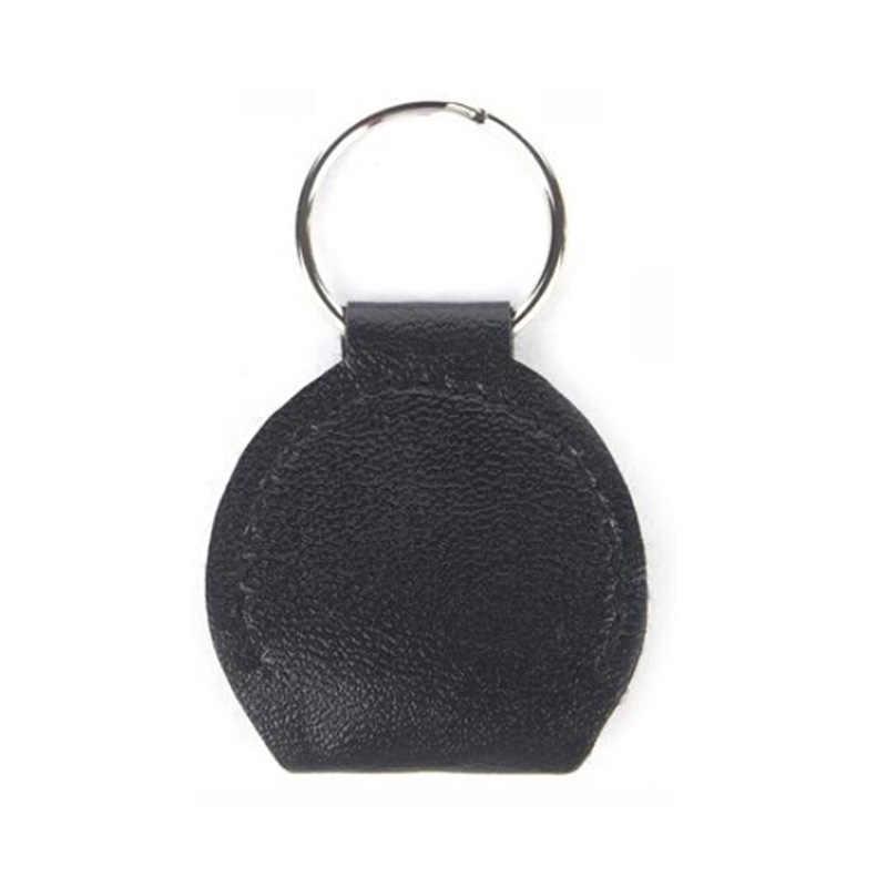 IRIN 1PC cuir & métal noir guitare électrique porte-crochets Plectrum Case sac noir couleur guitare pièces accessoires