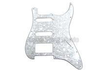 Niko blanco perla celuloide 4 capas eléctrica Guitarras pickguard SSH pickups para Fender Strat style eléctrica Guitarras envío libre