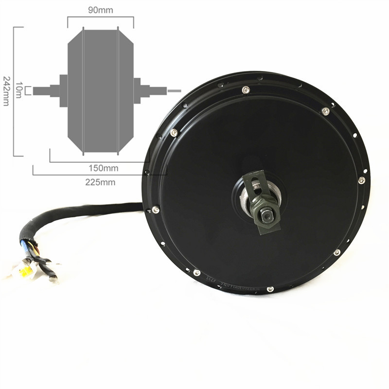 TFT Display 48 v-72 v 5000 watt elektrofahrrad kit 5kw e fahrrad - Radfahren - Foto 3
