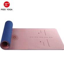 PIDO YOGA TPE Yoga mat 183*66*0.8cm Wide Thicken Non-slip mat  Gym Mat Beginner Pilates mat