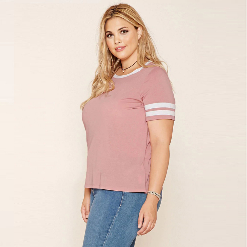 2539dd464e6 Kissmilk Plus Size New Fashion Women Clothing Casual O Neck Solid Tops  Preppy Style Streetwear Big Size T shirt 3XL 4XL 5XL 6XL-in T-Shirts from  Women s ...